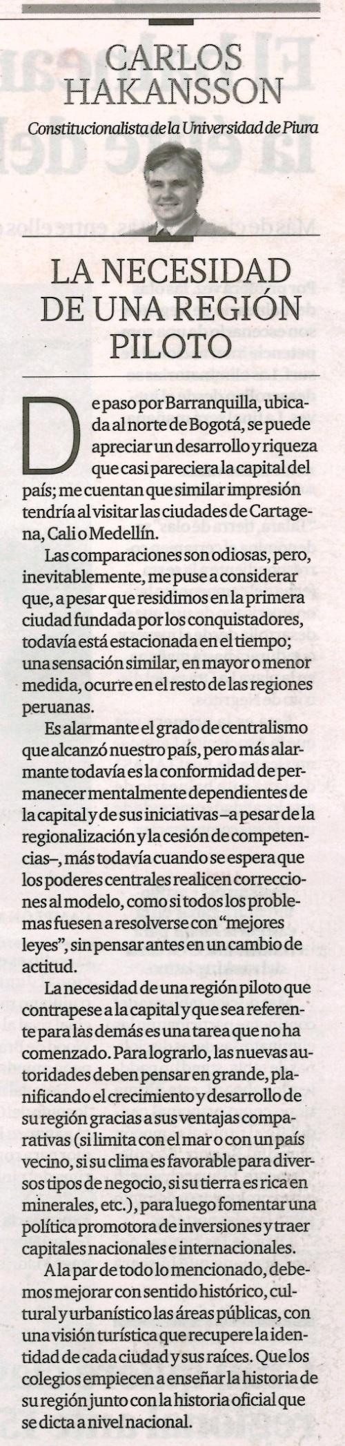 El Comercio 6 setiembre 2014